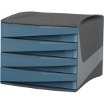 Cassettiera Green2Desk Fellowes - blu carta da zucchero - 28,5x38,4x25,4 cm -