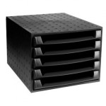 Cassettiera The Box ECOBlack Exacompta - nero - 5 cassetti